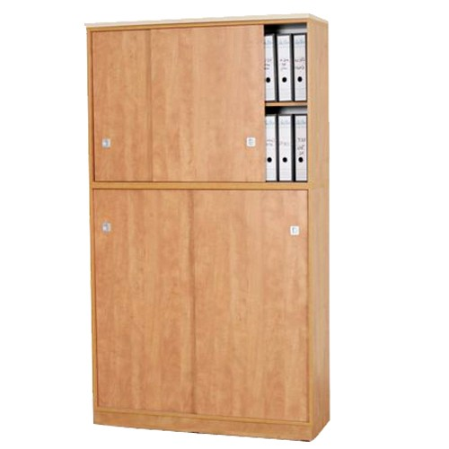 ארון ארכיב שתי קומות עם דלתות הזזה